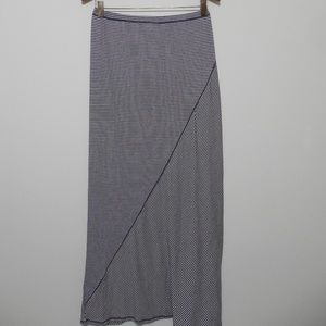 Max Studio Maxi Long Stripe Skirt